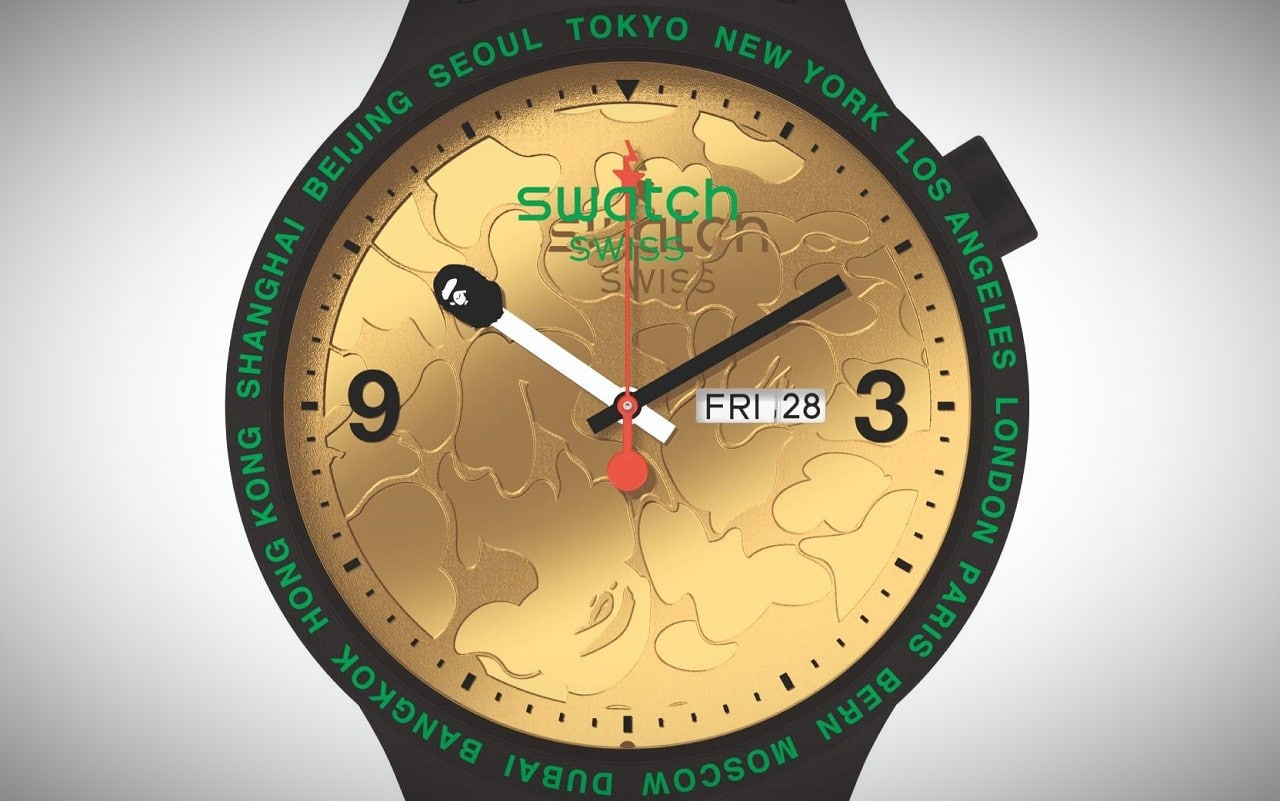 Swatch X BAPE : la montre suisse se met au drop streetwear