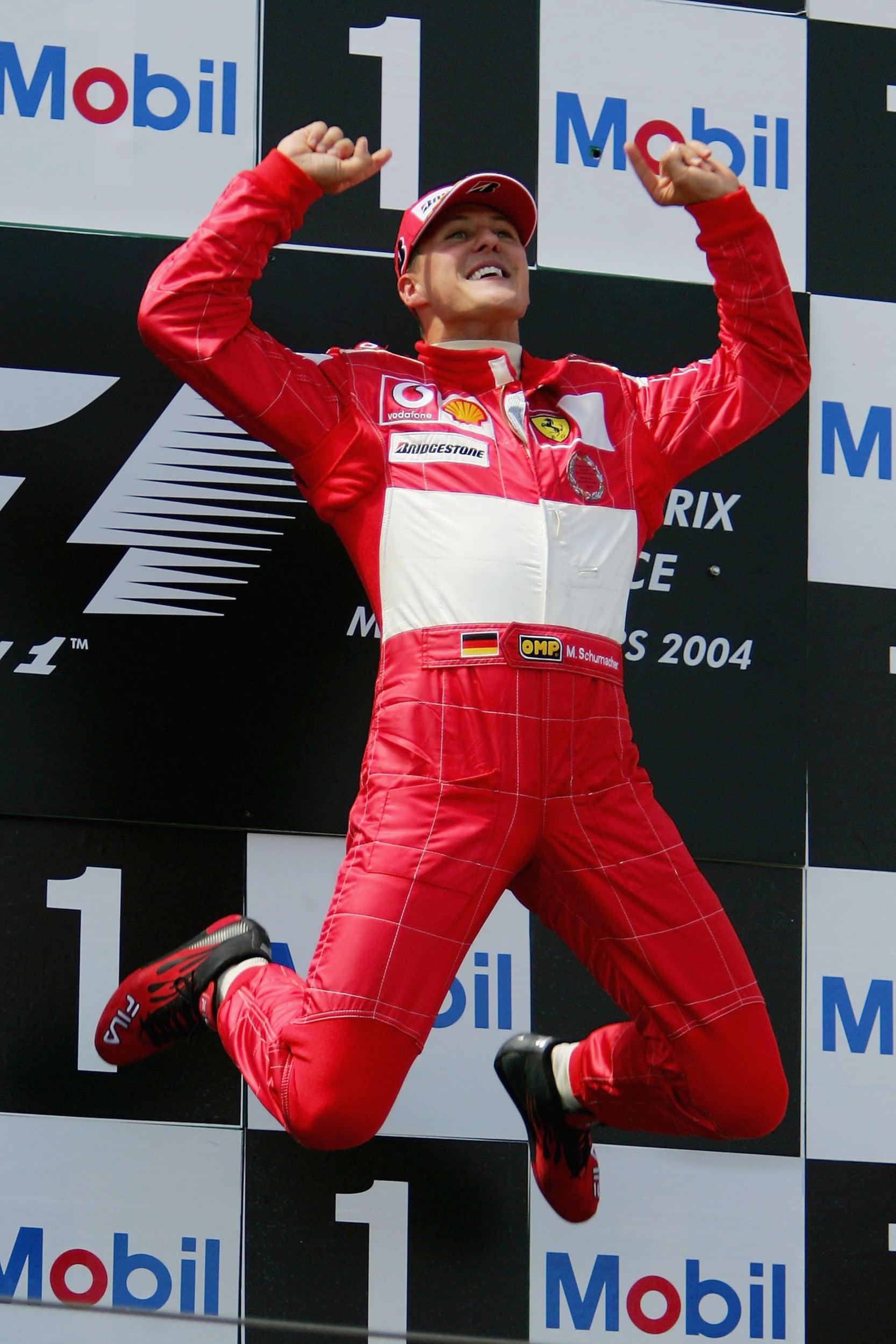 Michael Schumacher remporte le GP de France 2004 à Magny-Cours