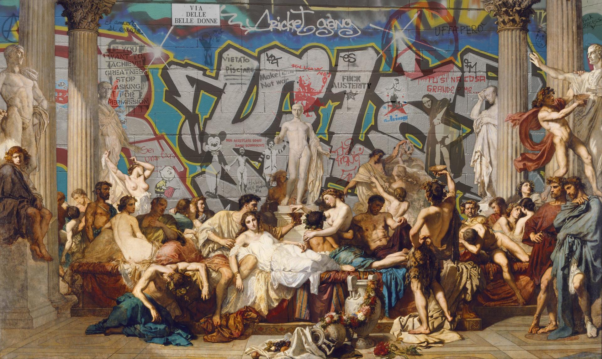 Quand Le Street Art Rencontre La Peinture Classique Le Resultat Est Bluffant