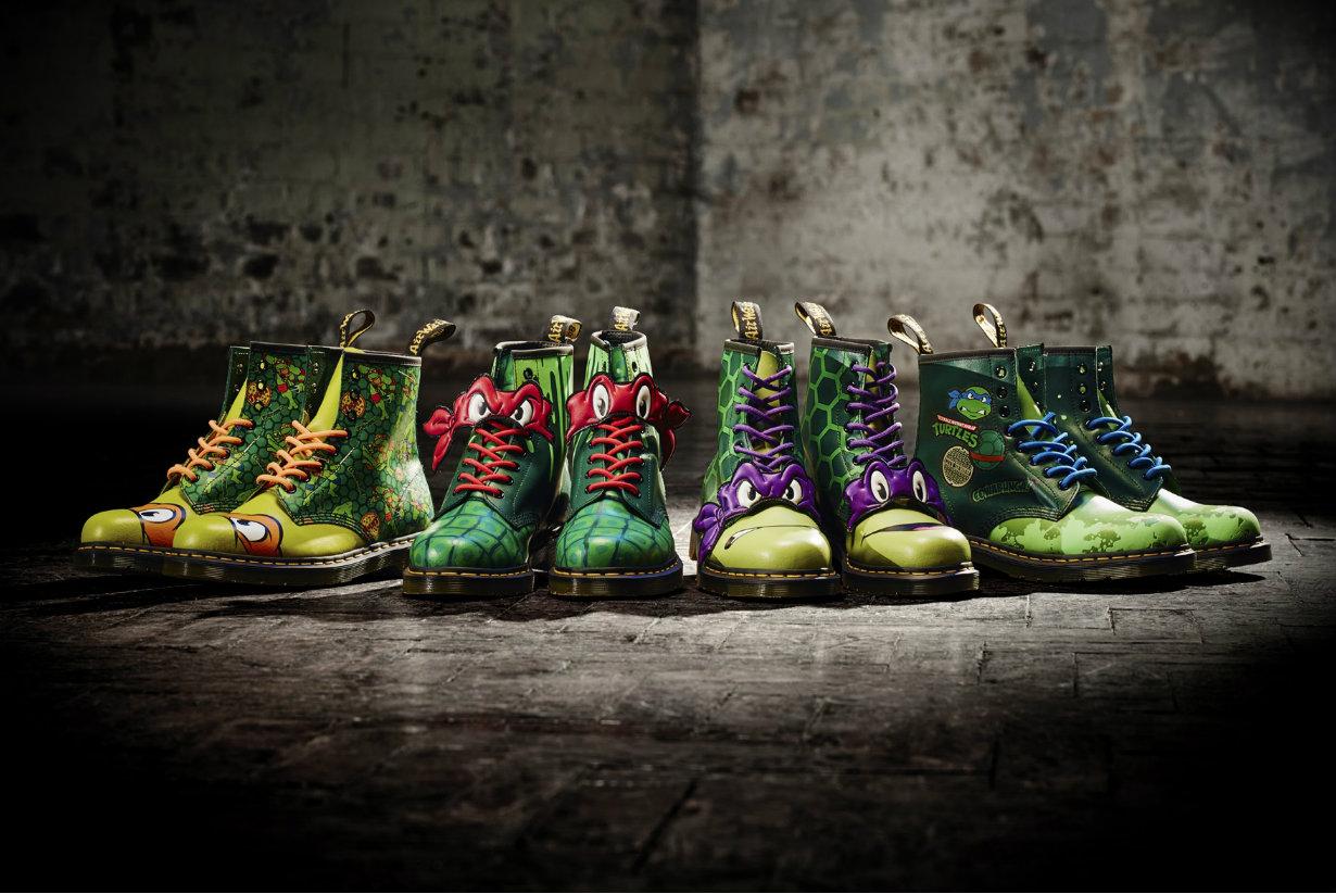 Des chaussures Dr Martens aux couleurs des Tortues Ninja