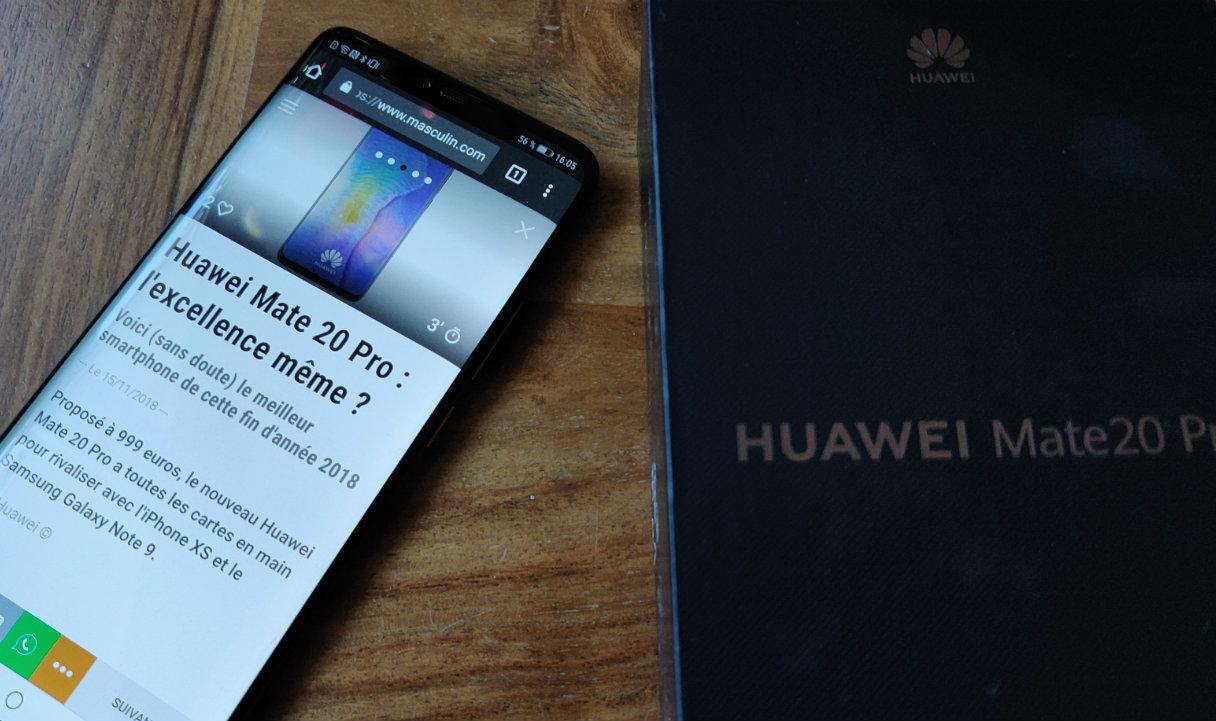 TEST & AVIS] Huawei Mate 20 Pro : le roi du haut de gamme, c